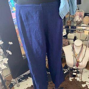 100% linen ankle crop pants